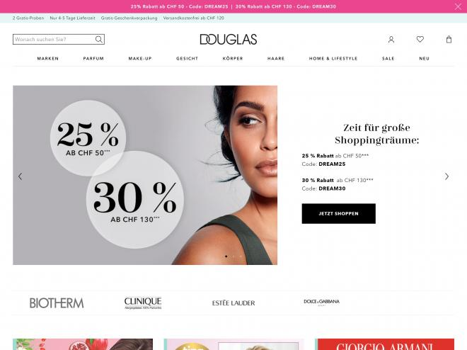 Screenshot des Shops